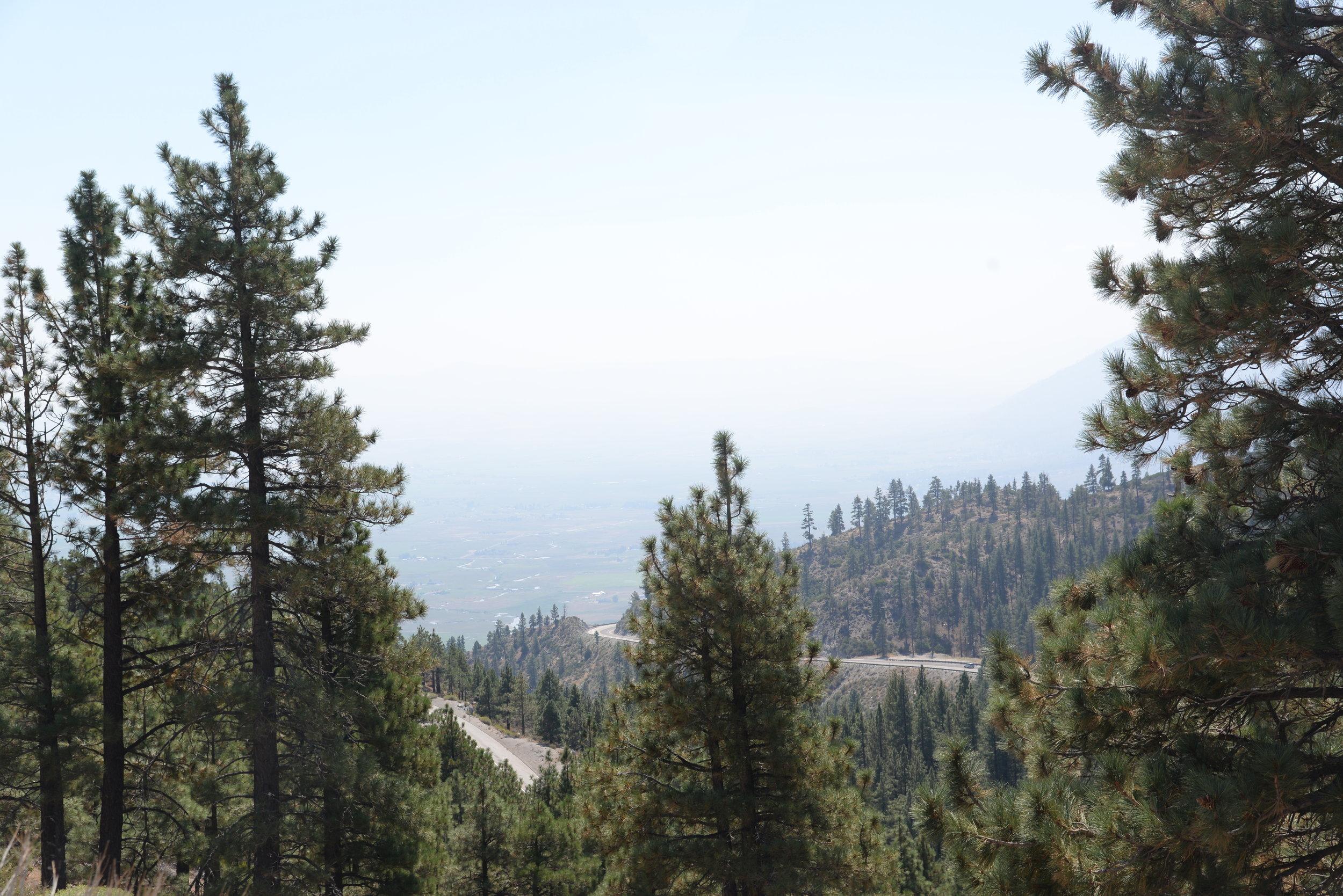 Heading towards Yosemite National Park.