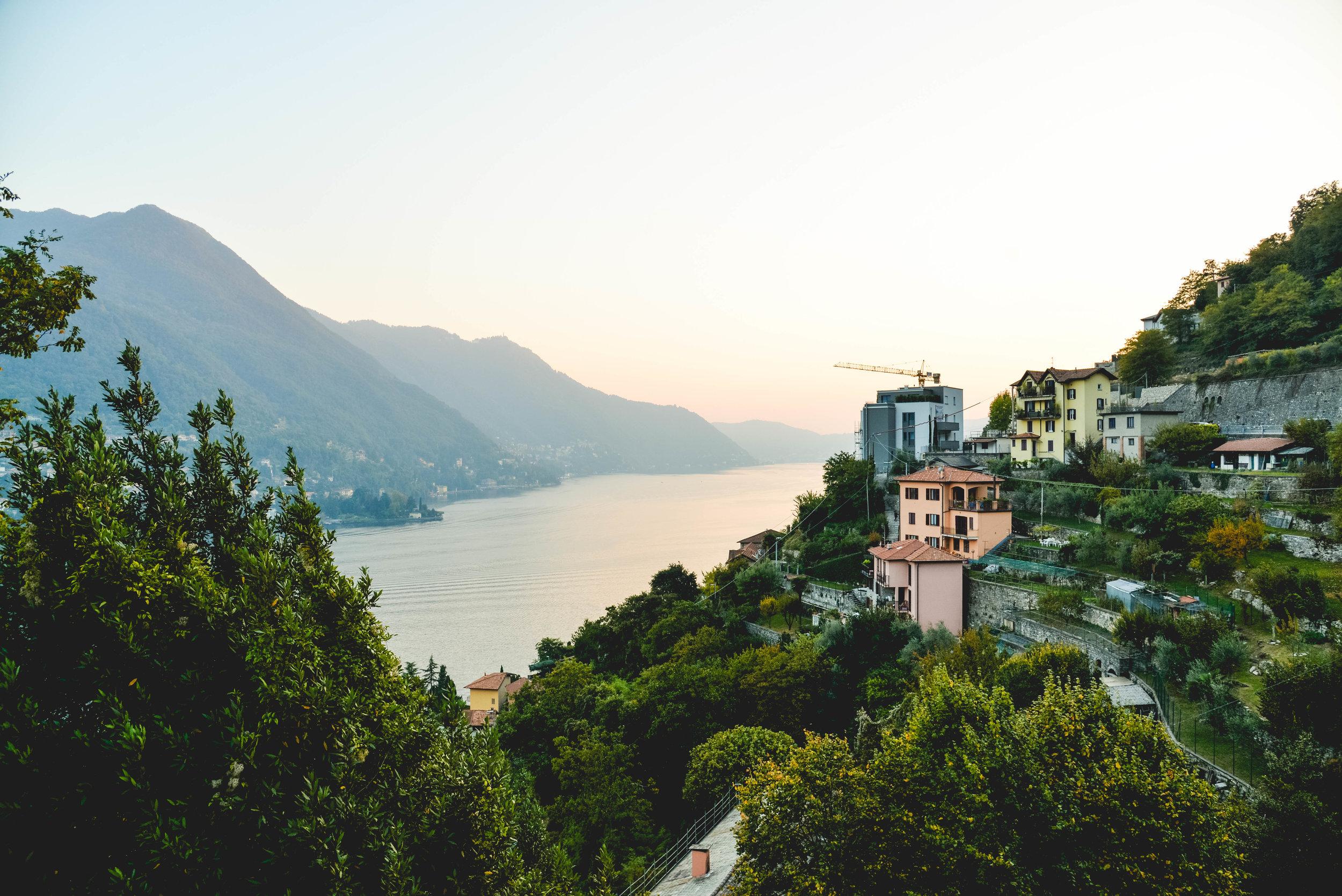 Beautiful sunset on Lake Como.