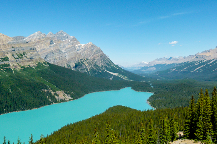 Peyto Lake on Icefields Parkway, Canada.jpg