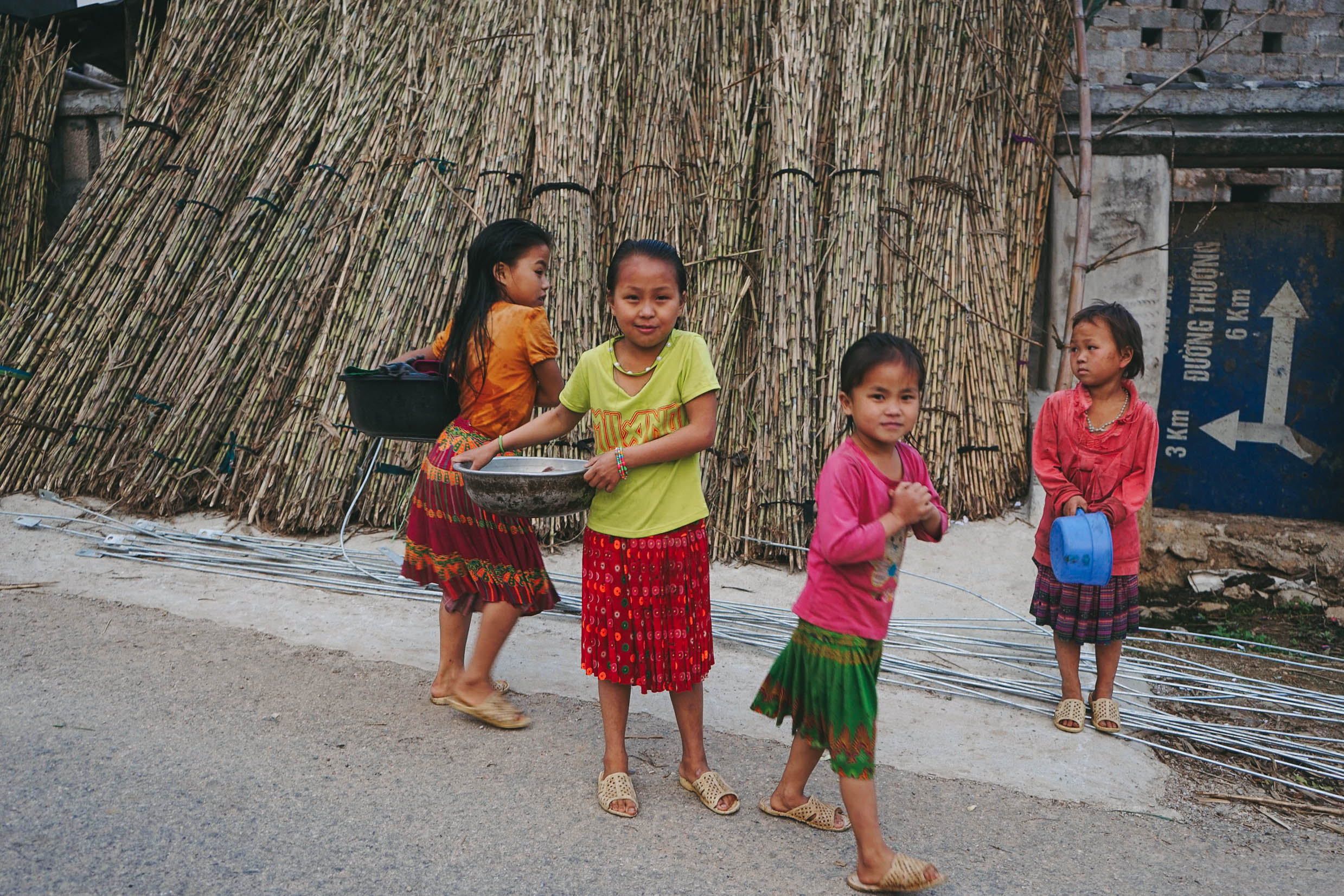Ethnic minority children of the Ha Giang Province in northern Vietnam.