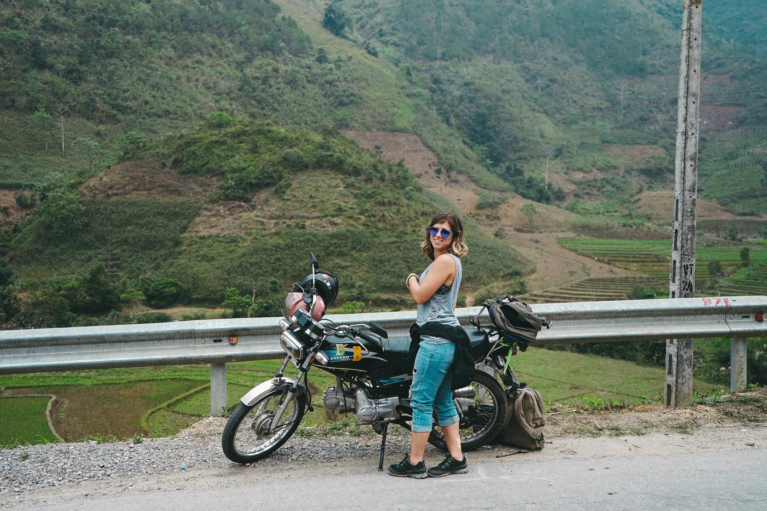 Our 125cc motorbike successfully got us through the Ha Giang Loop!