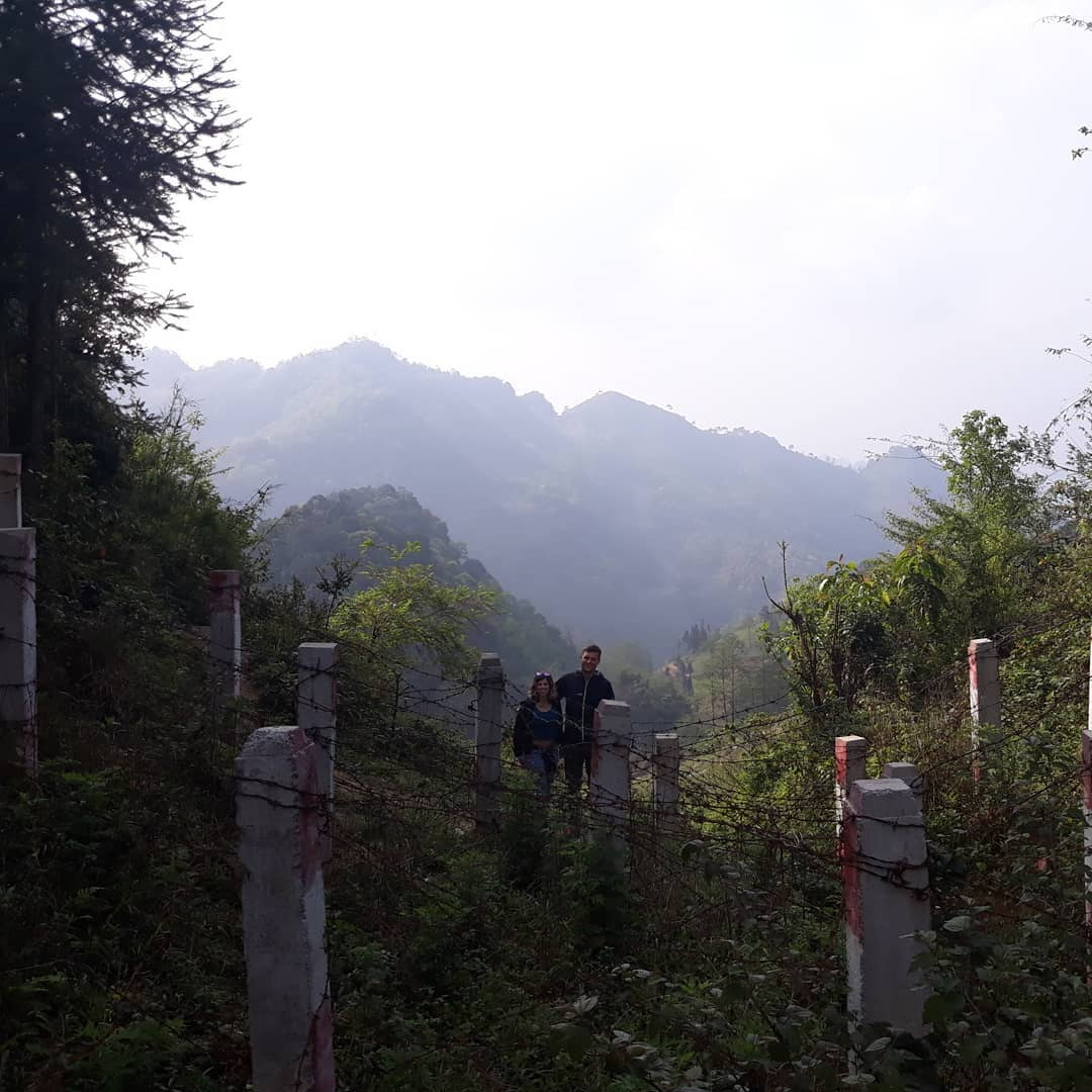 Standing at the China-Vietnam border!