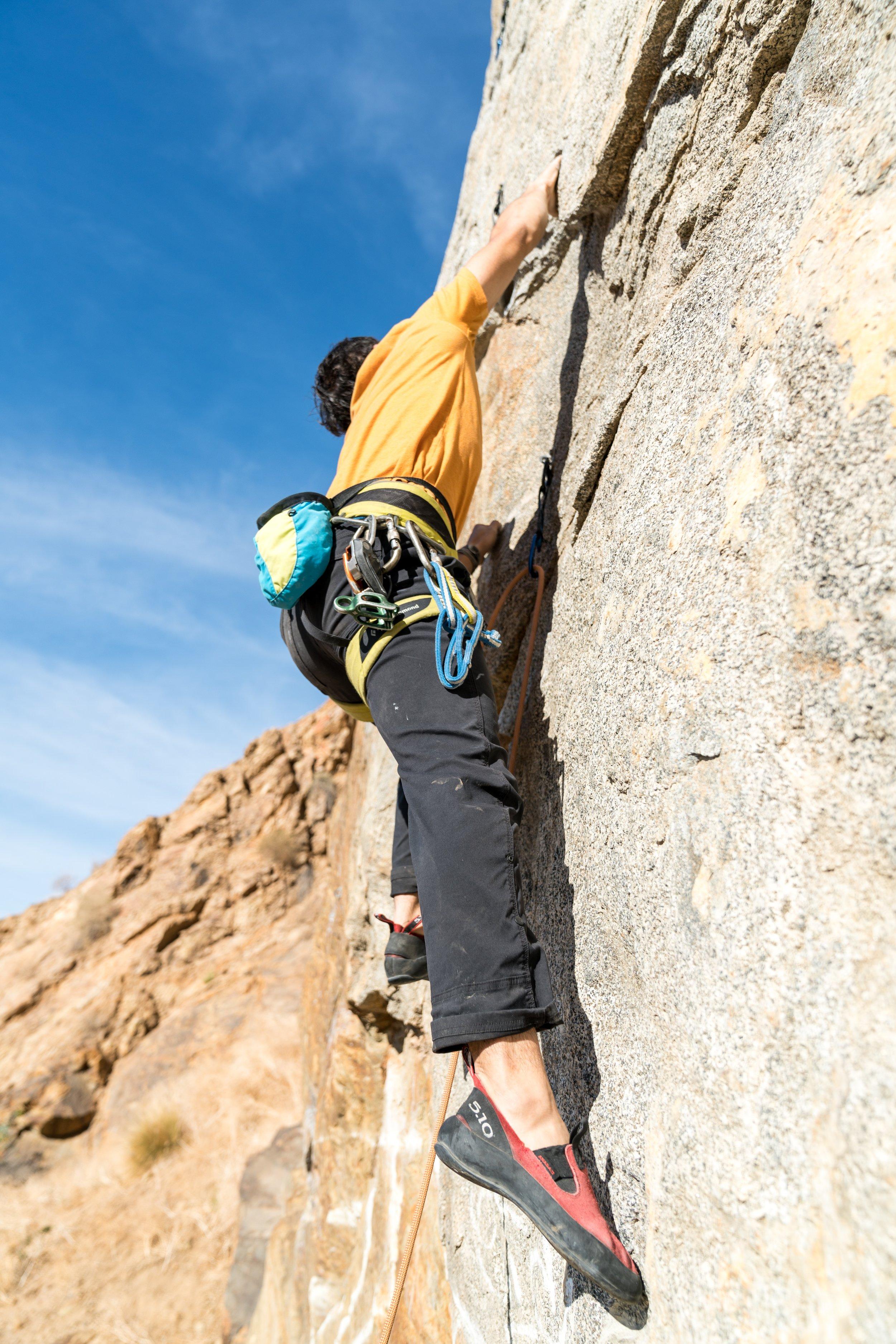 Rock climbing south america