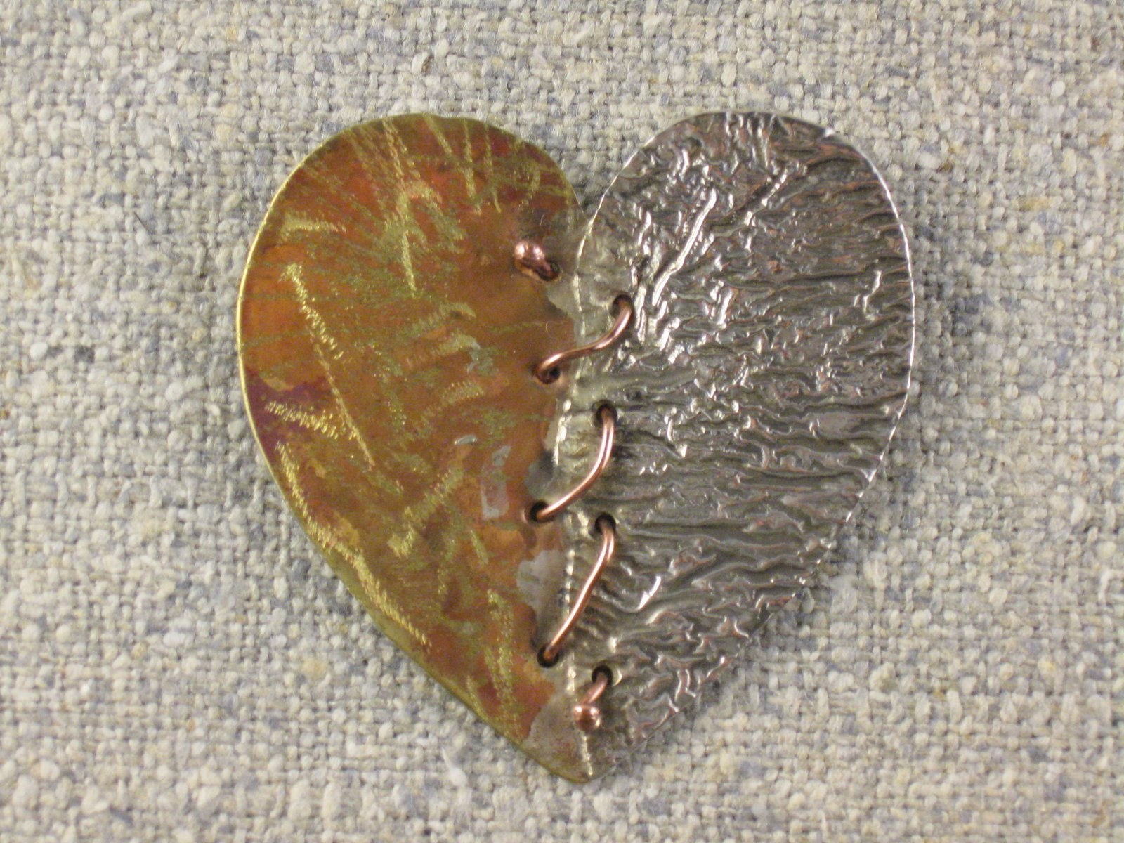 mended heart pin