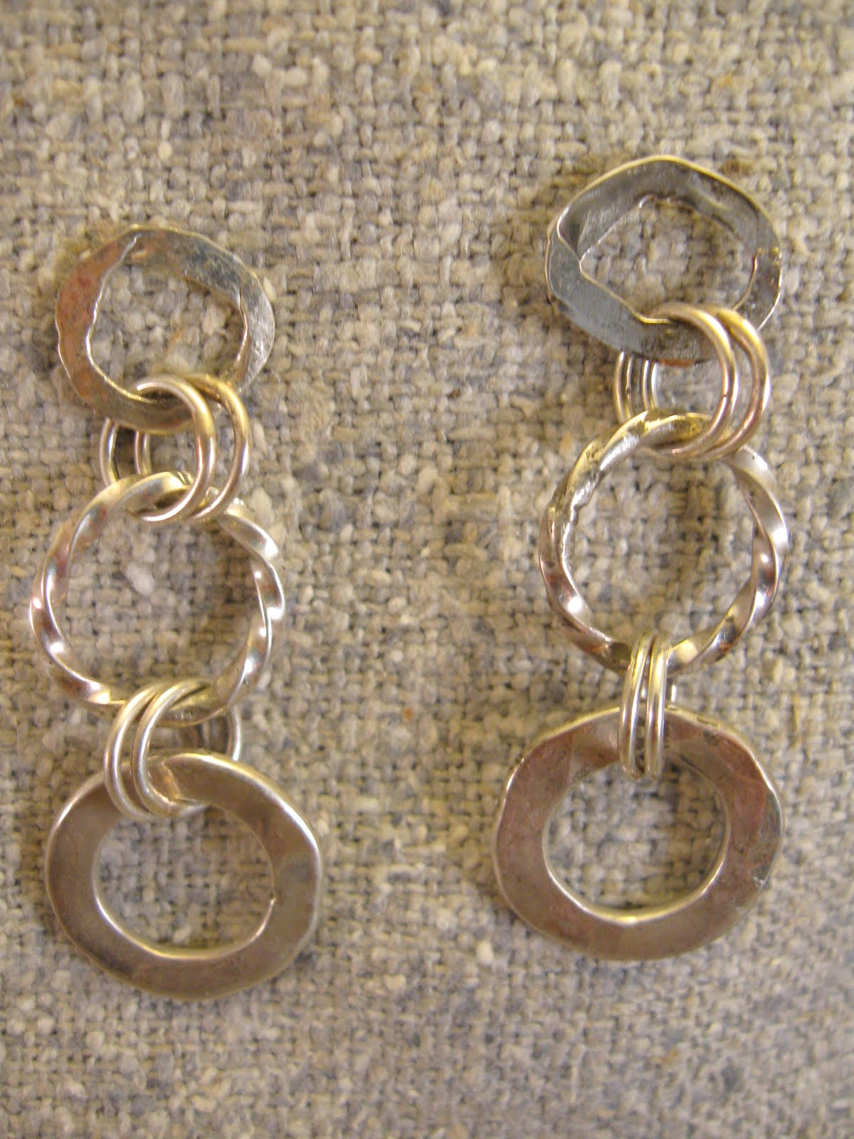 sterling chains earrings