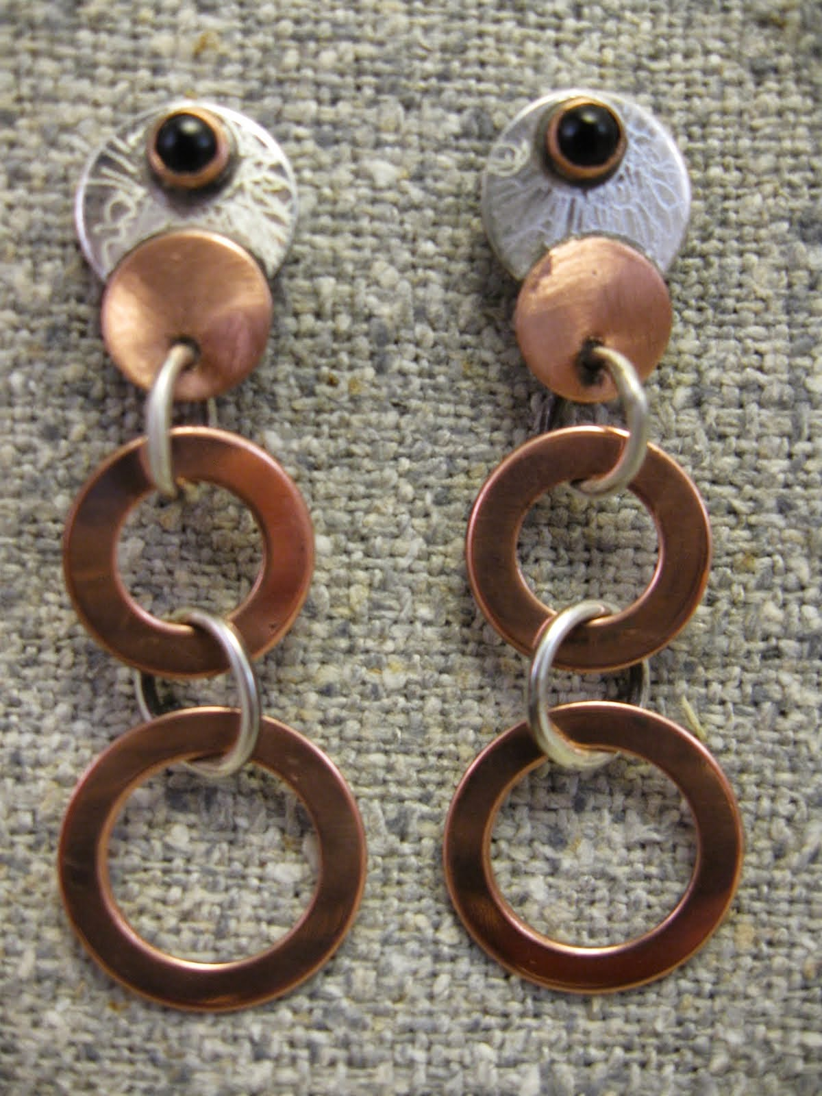 washer drop  earrings