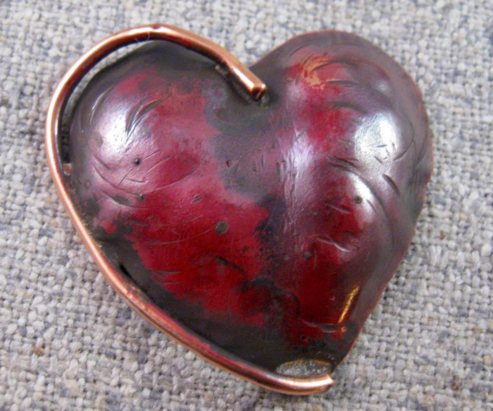 organic heart pin
