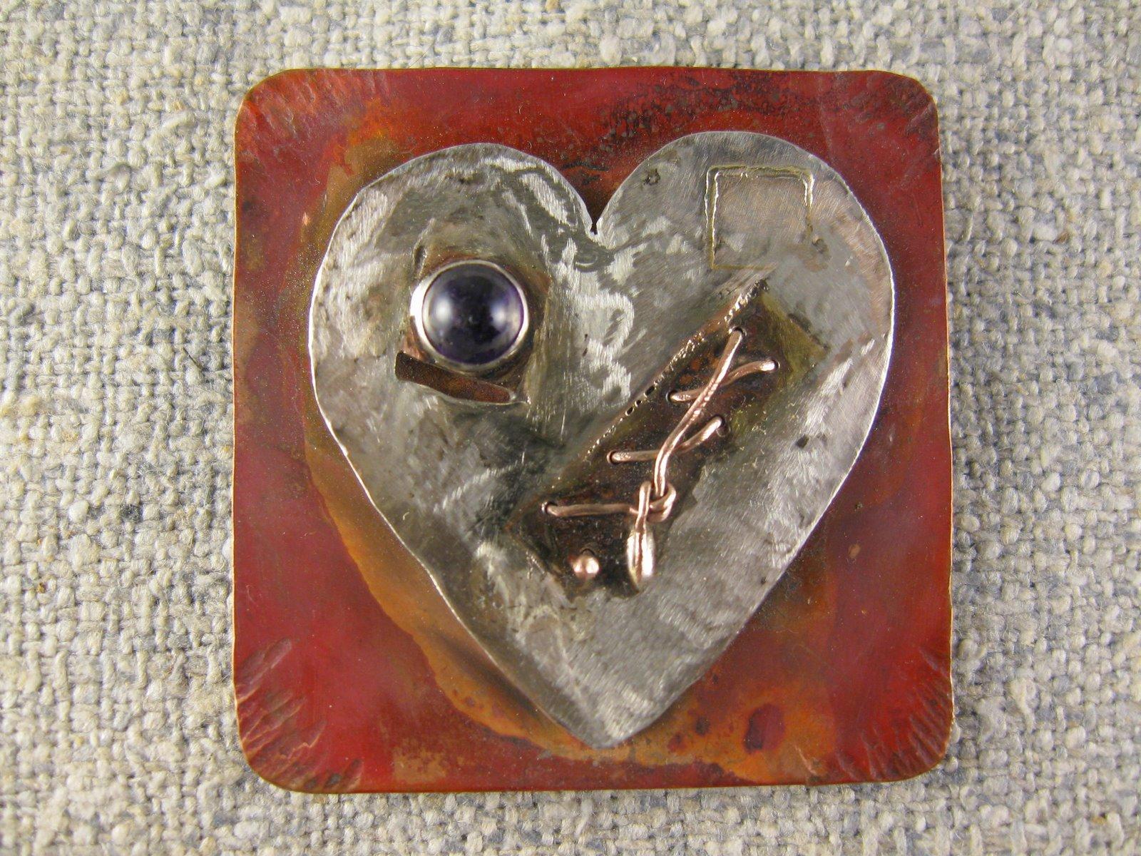 healing heart pin