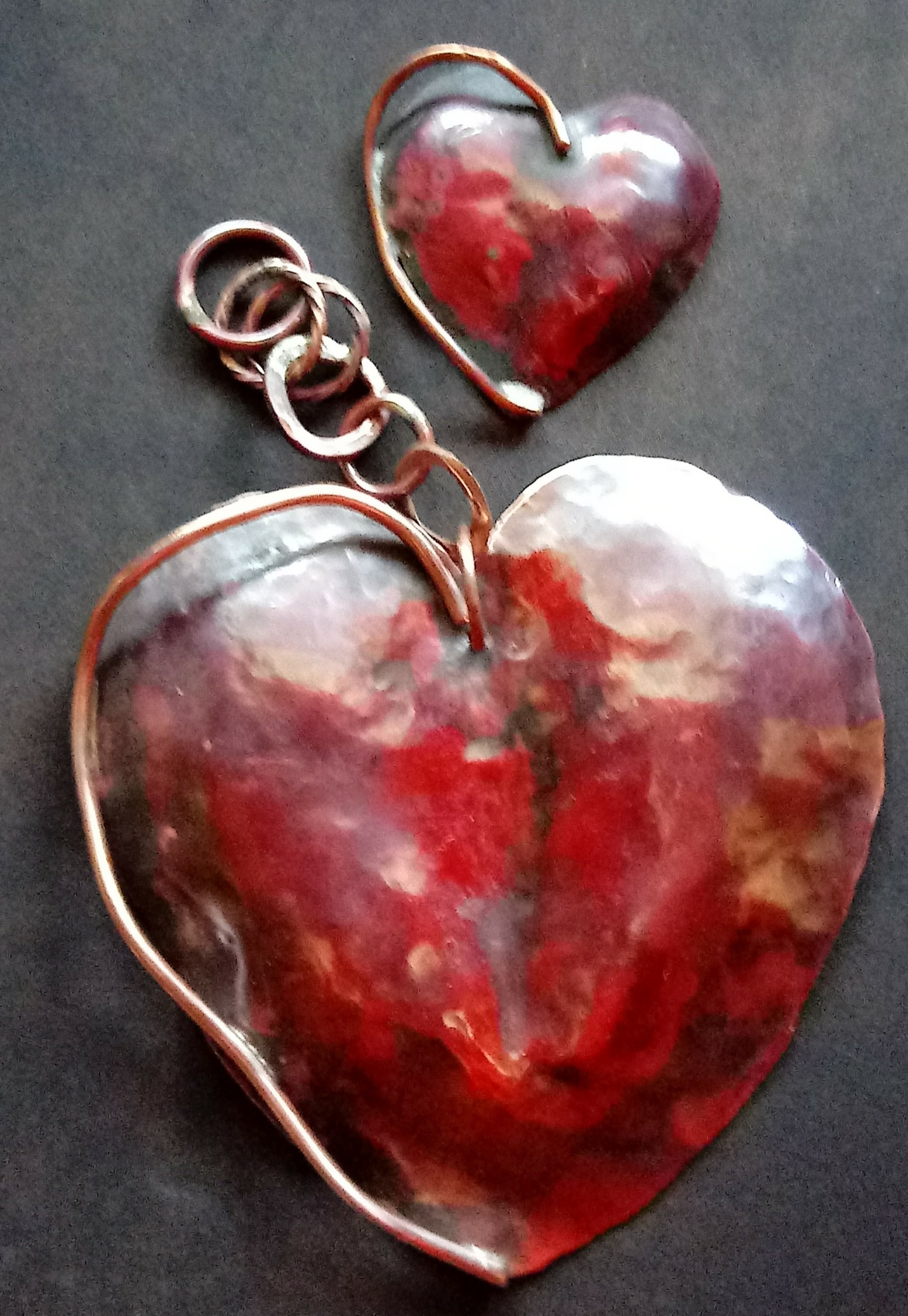 organic heart hanging sculpture