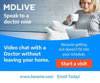 Visit a doctor without leaving home. Being sick doesn't have to be terrible with MDLIVE Prime. Enroll today at www.beneme.com #mdliveprime #telemedicine #anywhereanytime #yourhealthmatters #calladoctor #health #healthbenefits #telehealth #telehealthcare