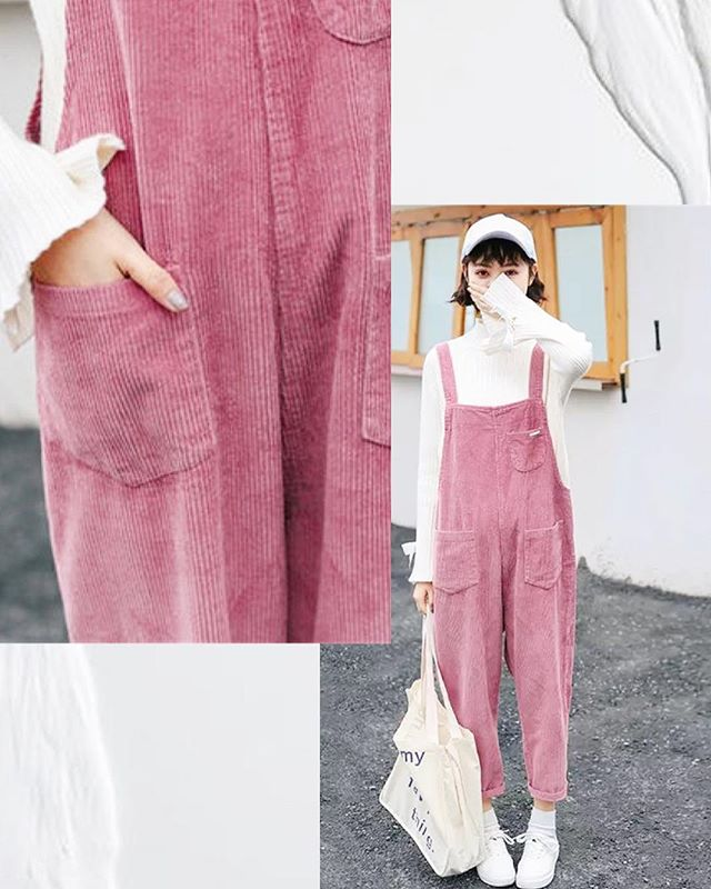 We just can't get enough of corduroy  dungarees!🤷🏽♀️ . . . #eastfenglondon #notourfault #canyou #corduroy #dungarees #overall #prettyinpink #millennialpink #onlineboutiqueuk #ootdfashion