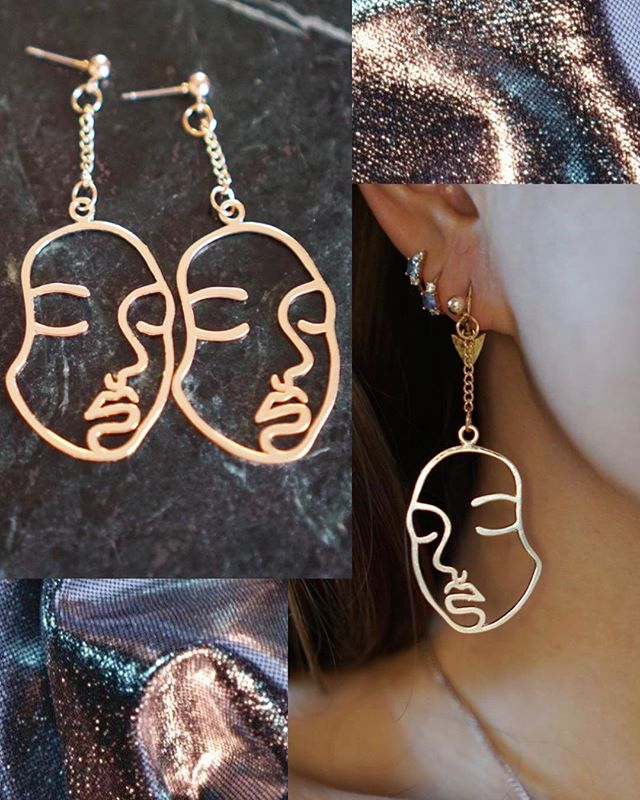 For once, we're saying yes to 'Two-Faced'😅😅 . . . #twofaced #eastfenglondon #accessoriesoftheday #earringaddict #earringsoftheday #goldearrings #jewellery #onlineboutiqueuk #onlineshoppinguk