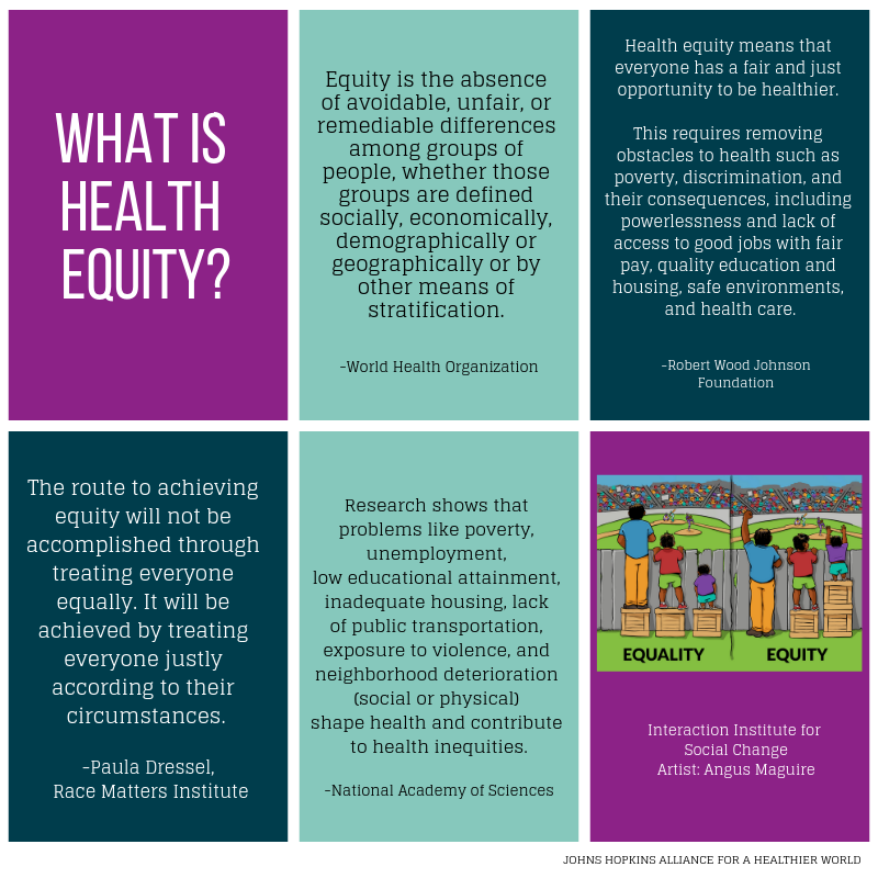 Understand Health Equity Johns Hopkins Alliance For A Healthier World