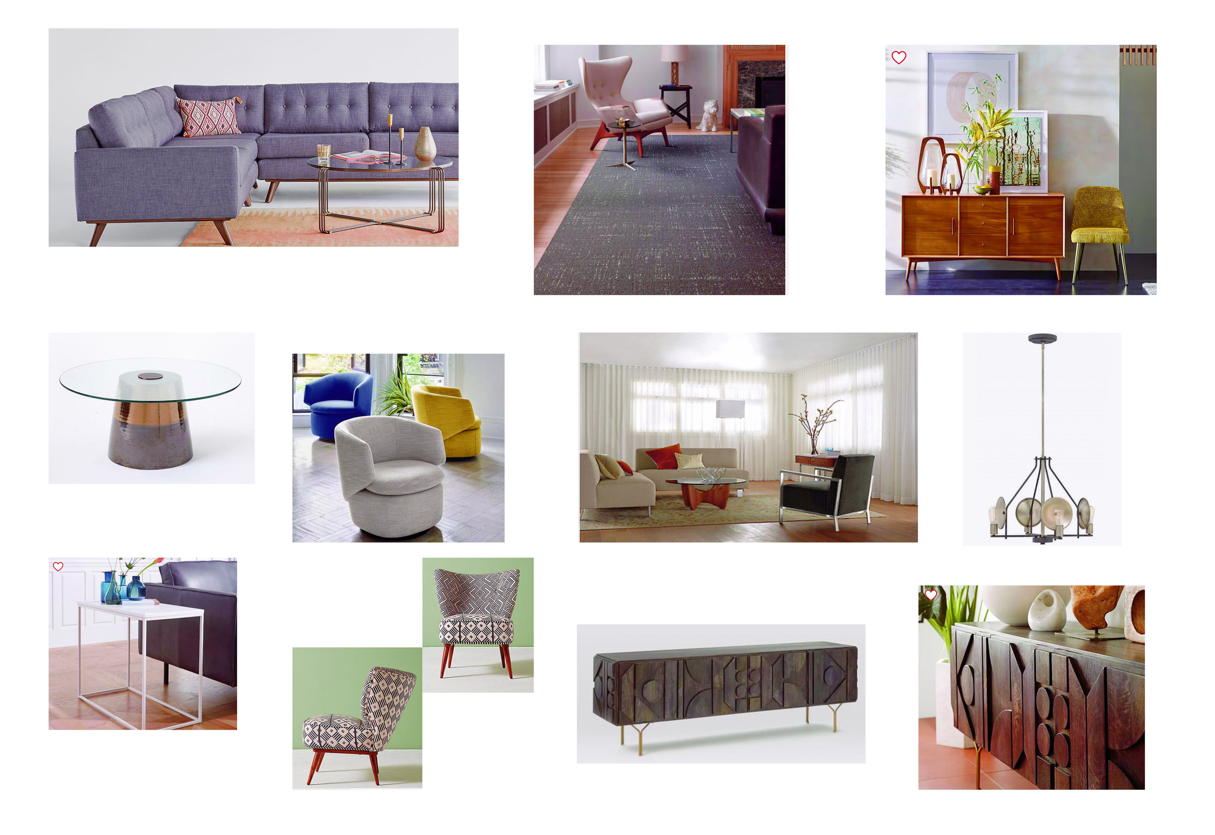 - an image collage showing furniture selections and general design ideas