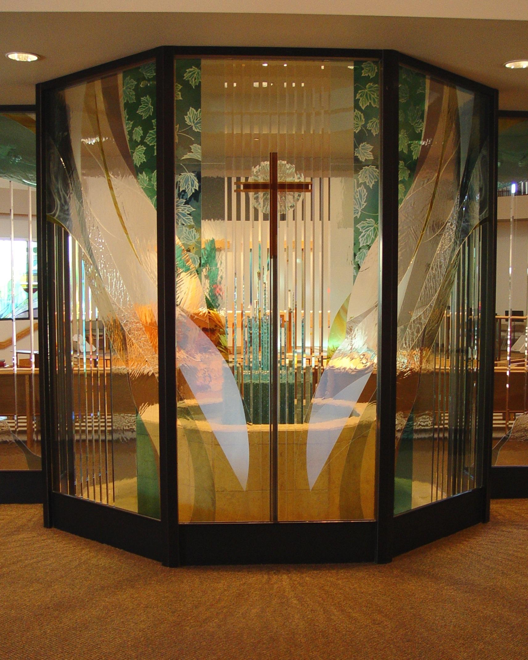 Hope Lutheran Palm Desrt CA narthex.JPG