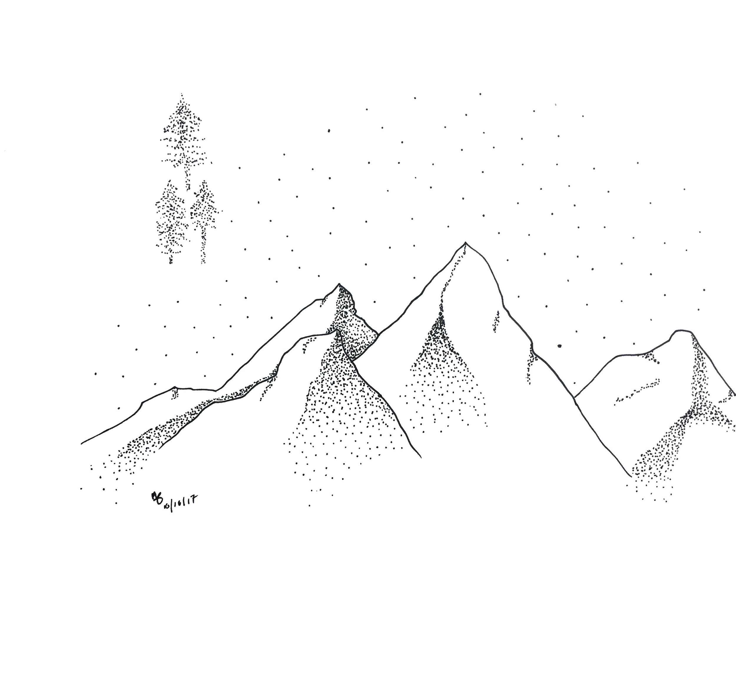 Mountain Sky rough sketch