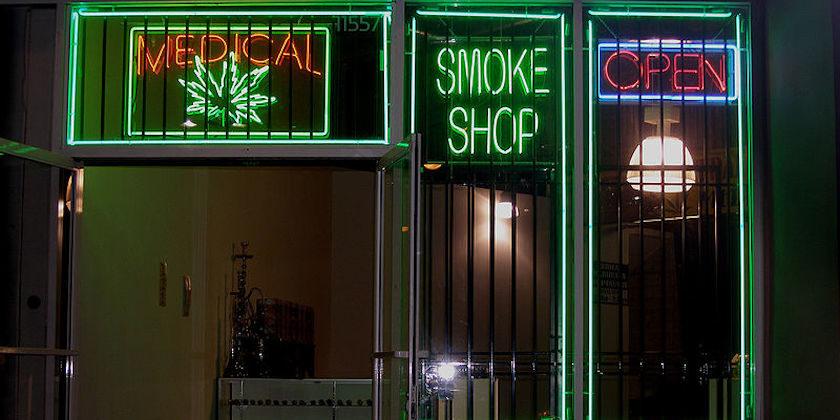 Medical marijuana dispensary on Ventura Boulevard in the San Fernando Valley—Los Angeles, California.