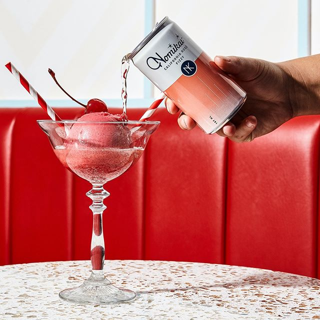 We've teamed up with @oddfellowsnyc to create The Sparkler, a boozy float with a scoop of Raspberry Pink Peppercorn Sorbet and a splash of our Fizzy California Rosé. The collaboration is available at OddFellows' Dumbo location throughout the month of February, come by and check it out!  Photo credit @heidisbridge