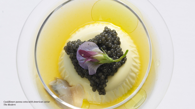 Cauliflower panna cotta with American caviar.jpg