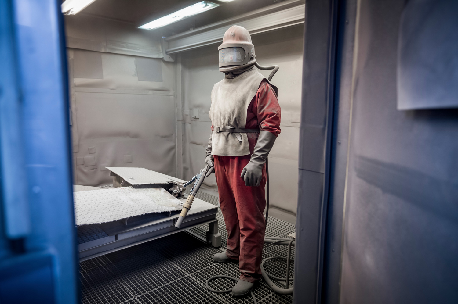 Workers have been taking apart this Soviet-era nuclear power plant, near Greifswald in eastern Germany, since 1995, cleaning radioactive surfaces with steel grit so the metal can be recycled. Germany plans to shut all its reactors by 2022.