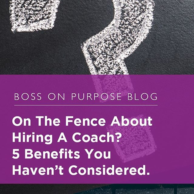 On The Fence About Hiring A Coach? 5 Benefits You Haven't Considered. — Written by Chris Harris of RefuseOrdinary.  Link in Profile! . . . #bossonpurpose #boss #businesscoach #businessowner #business #entrepreneur #Entrepreneurship