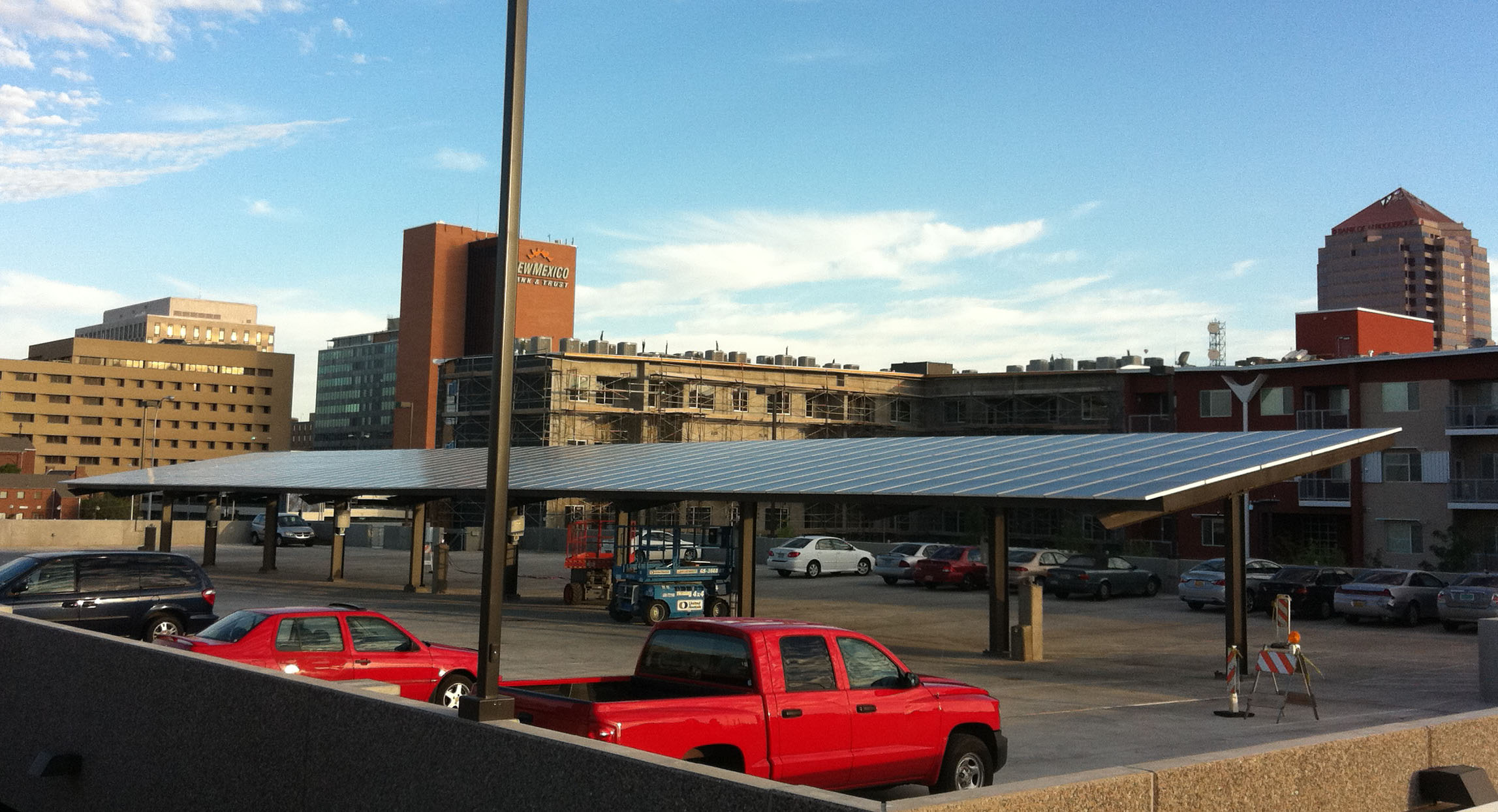 Solar covered parking structures