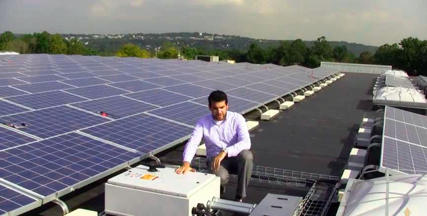 Rooftop pv panel installations