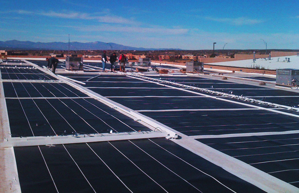 Thin film solar pv installations