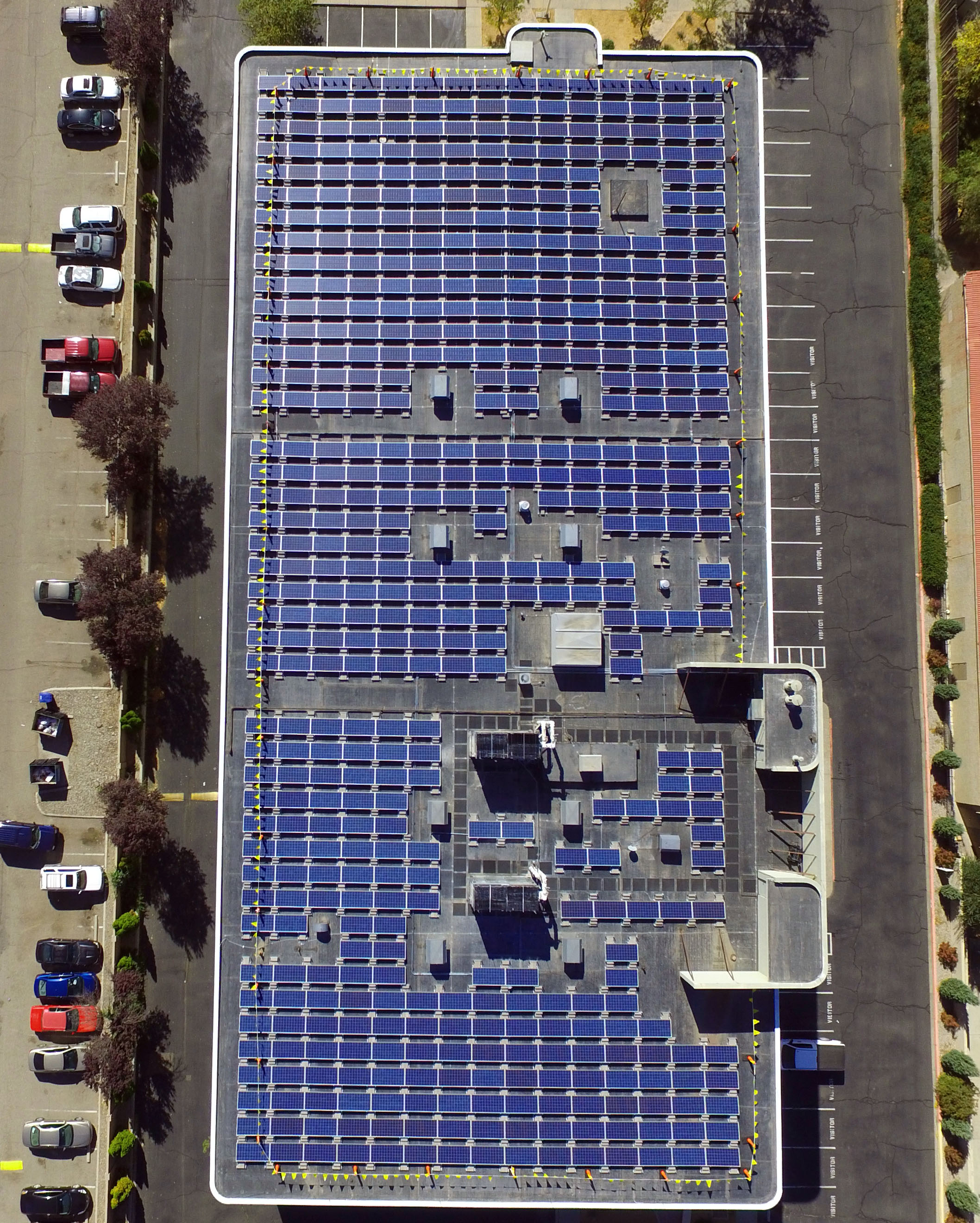 Rooftop solar power plants