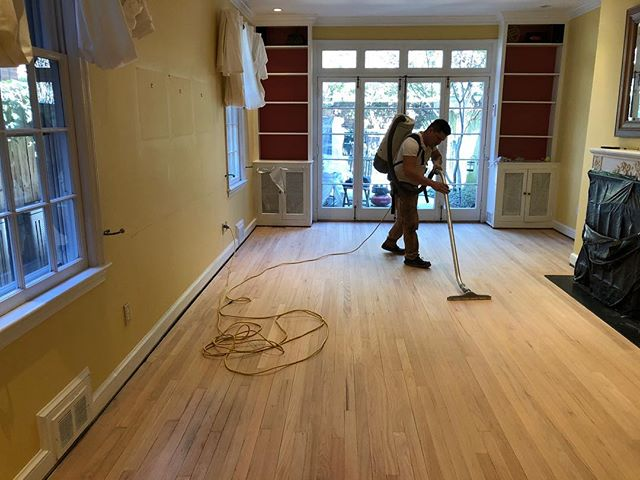 #TransformationTuesday: Our client was heading out of town for a week and wanted their hardwood floors completely resurfaced. Our response - absolutely!  You can read more about how we did it by clicking the link in our bio.