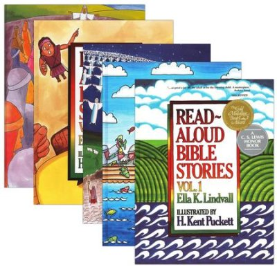 Read Aloud Bible Stories, Volumes 1-4 - Ella K. LindvallAges 1-4These books simplify Bible stories so that even the youngest children can understand and appreciate them, and include a series of application questions.