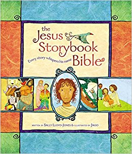 The Jesus Storybook Bible - Sally Lloyd JonesAges 4+The Jesus Storybook Bible invites children to join in the greatest of all adventures, to discover for themselves that Jesus is at the center of God's great story of salvation--and at the center of their own story too! Animated DVDs and audiobook also available.