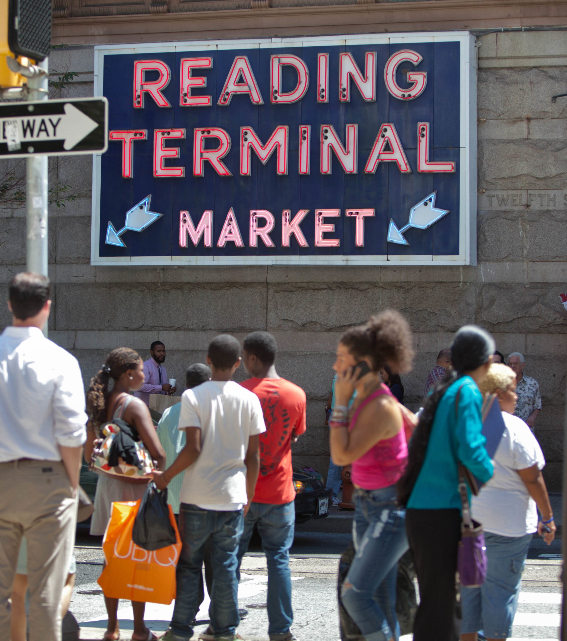 12th street signage for the Reading Terminal Market, July 27, 2011. (David M Warren / Staff Photographer, Philadelphia Inquirer)