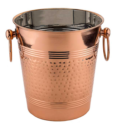 """I've become obsessed with copper kitchen gadgets and drink accessories. This hammered copper wine bucket is a super chic way to keep your favorite bottle chilled—and ready to drink.""    Old Dutch Hammered Copper Wine Cooler  from Amazon"