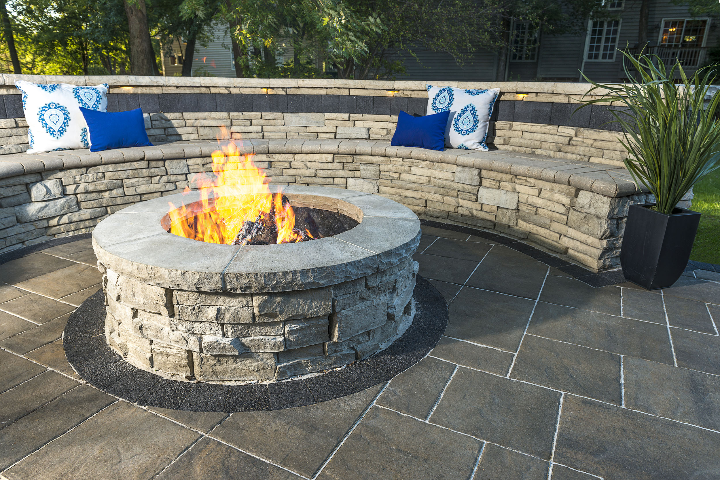 Fire pit design by a hardscape dealer in Harrisburg Dauphin County PA