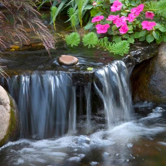 Waterfall water features by a hardscape dealer in Harrisburg Dauphin County PA