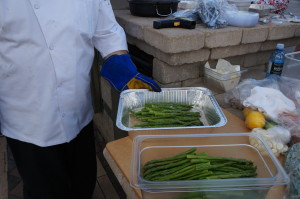 Asparagus makes a great side dish to the Pork Tenderloin.