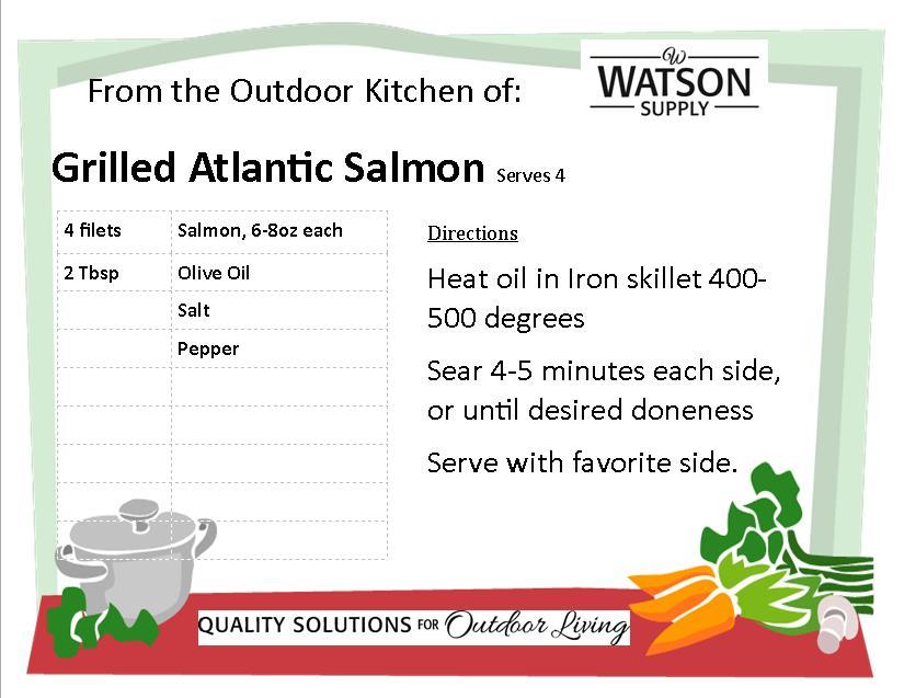 Grilled Atlantic Salmon Recipe Card
