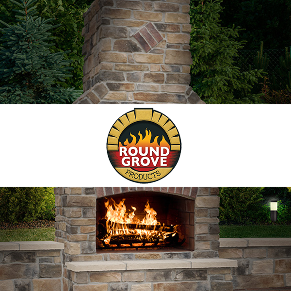 Professional Round Grove fire feature design in Harrisburg Dauphin County PA