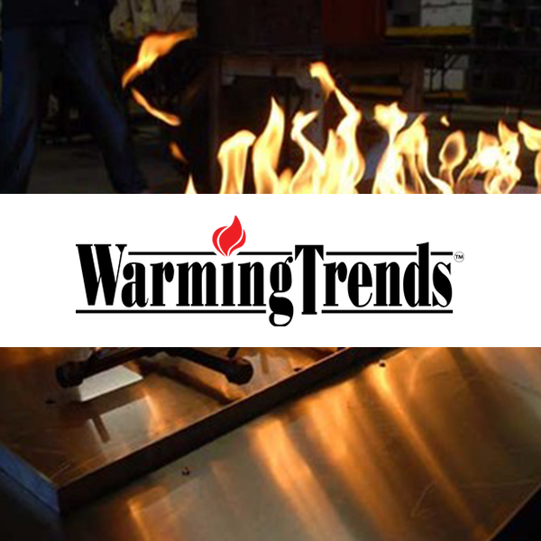 Professional warming trends fire feature design in Harrisburg Dauphin County PA
