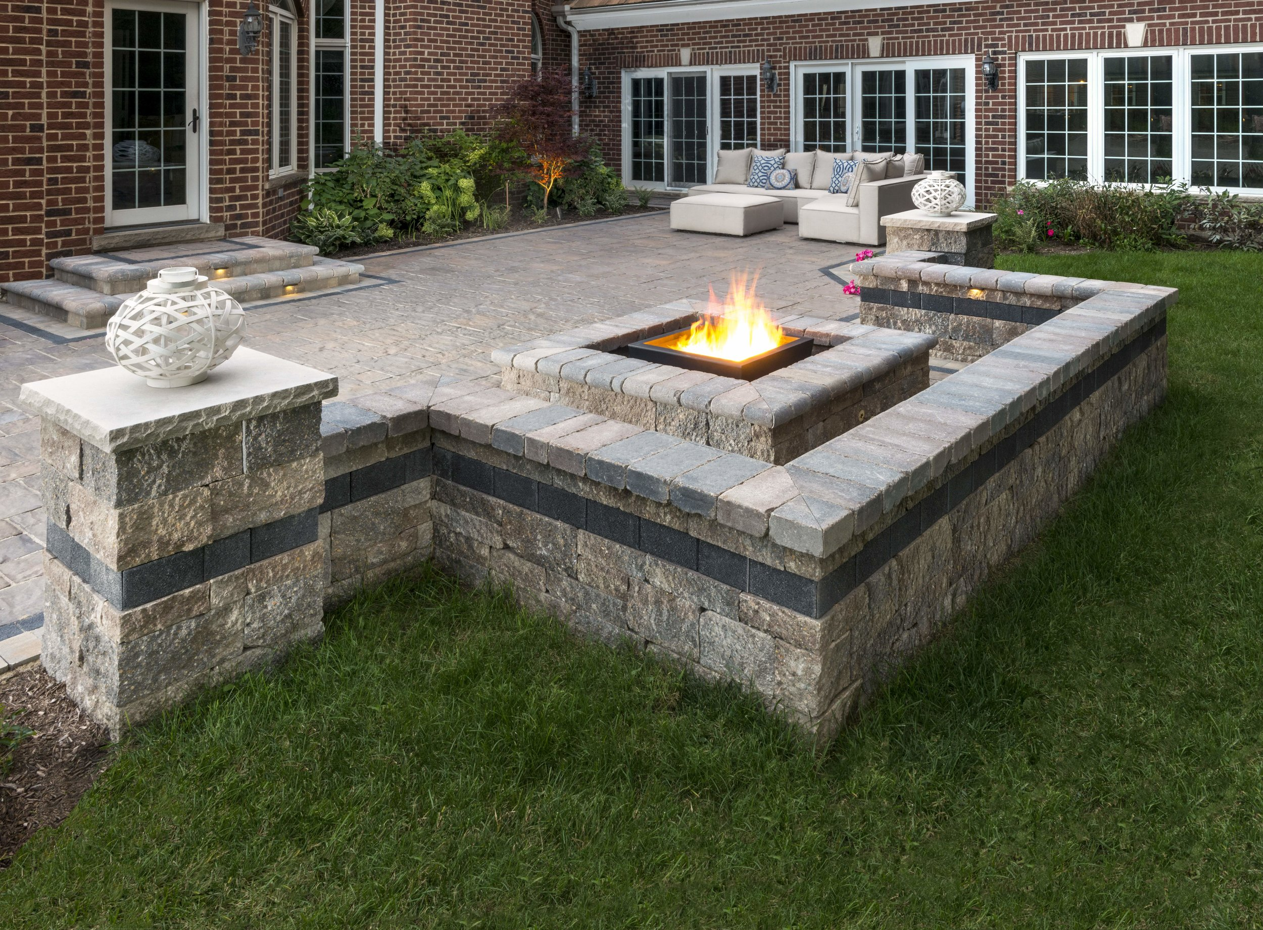Enclosing a Patio with Sitting Walls in State College, PA