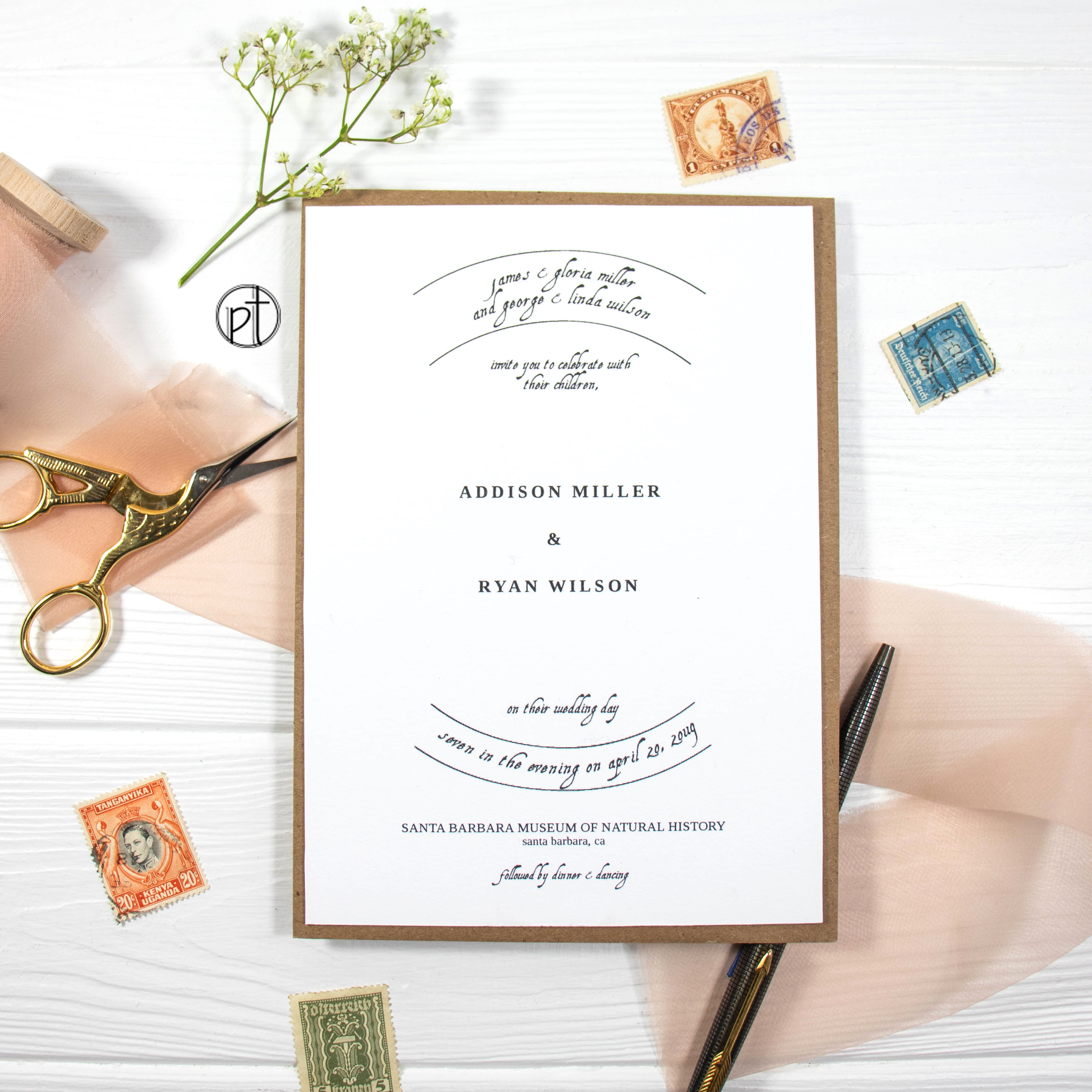 Personal Types Wedding Invitation Custom Stationery Design