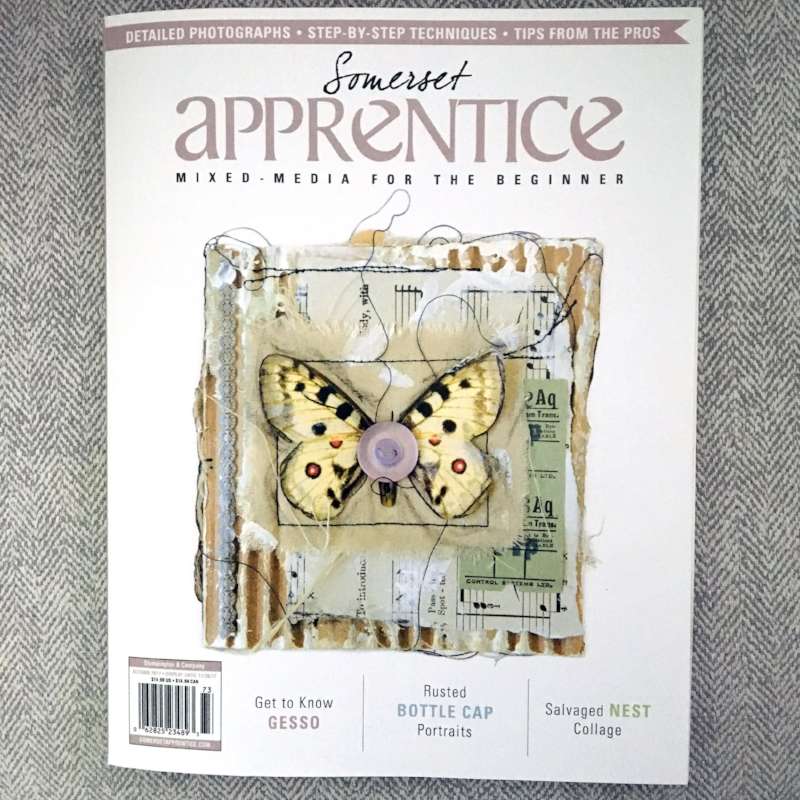 Somerset Apprentice  - Autumn 2017 Somerset Apprentice by Stampington & CompanyIn this issue I shared a tutorial for my Clay Bit Charms. I also wrote about what I think new artists need (it's not what you think!) and opined about gesso -