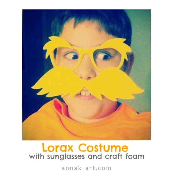 This is an image of Printable Lorax Mustache and Eyebrows pertaining to craft