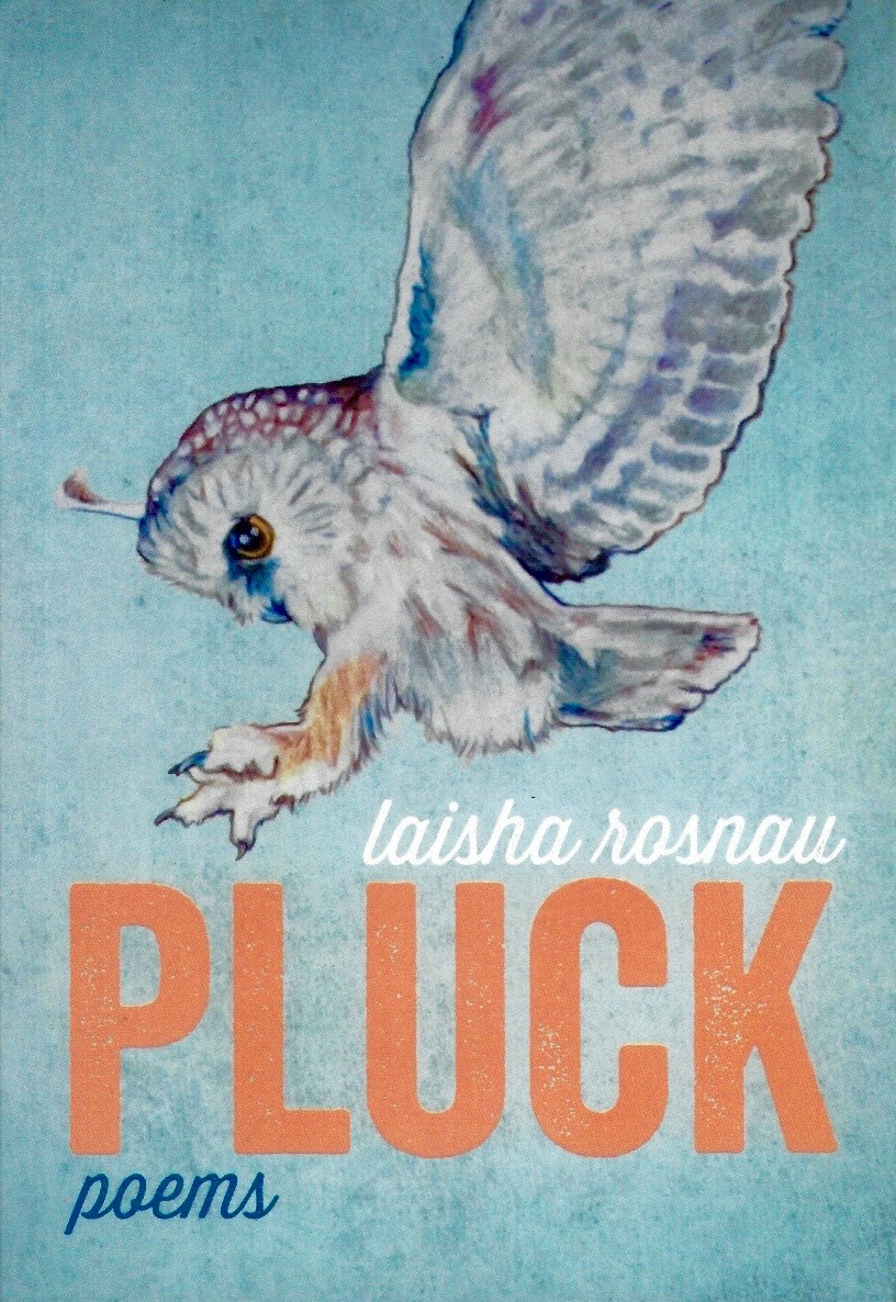 Pluck    Pluck  simply glows. From one smart poem to the next, Laisha Rosnau carves through your imagination like she were a hot knife, you were butter.  – Michael Dennis