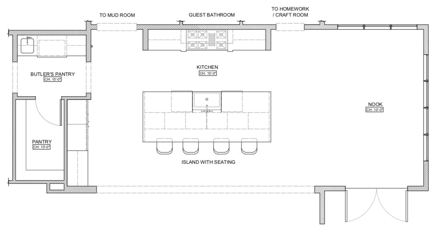 Tami Faulkner Design, Kitchen Floor Plan, Utah