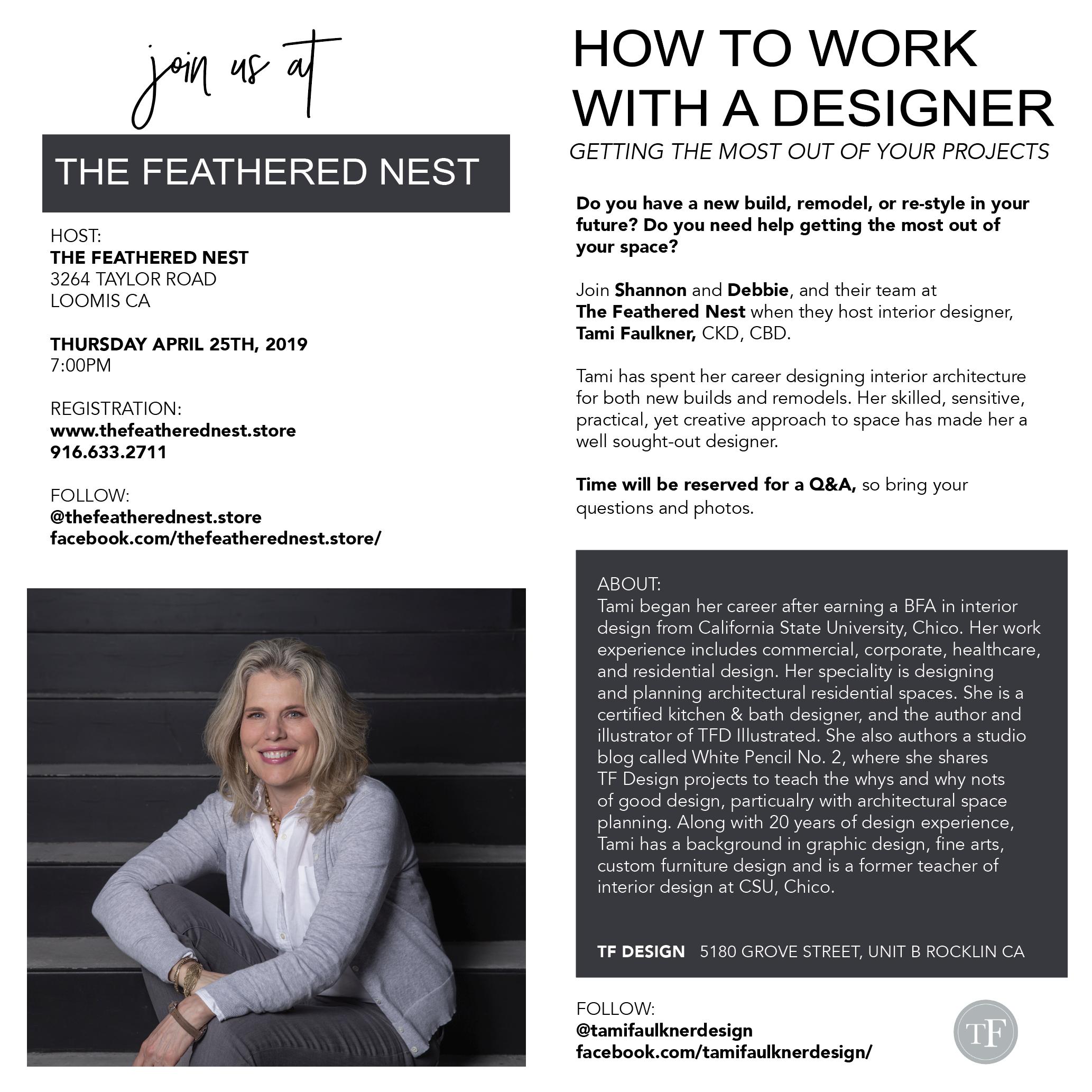 Tami Faulkner Design, The Feathered Nest, Loomis CA, Interior Design