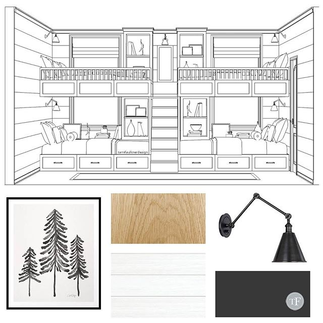 We explored and explored ways that we could turn a small bedroom into a bunk room and in the end, the design we landed on gave the clients from the #mountvalleyproject just what they were looking for. *Link in bio to see how we did it.