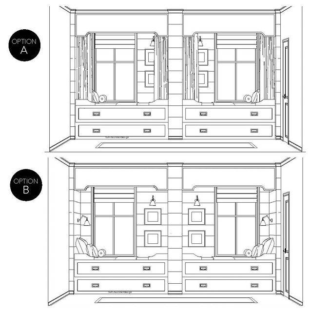 With all of our exploring we did with the #mountvalleyproject bunk room design, we even included a couple of designs for trundle beds since we were struggling to make the space work. We proposed adding curtains to help create a cozy, built-in feel for the top bunk. Which is your favorite, with or without curtains? You can link in bio to see more about this project.