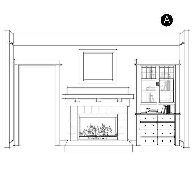 Which fireplace design is your favorite for an Arts & Crafts period style home? Look close to see the differences. We're giving the fireplace at the #kinddwellingproject a facelift while still staying true to the architecture of the house.